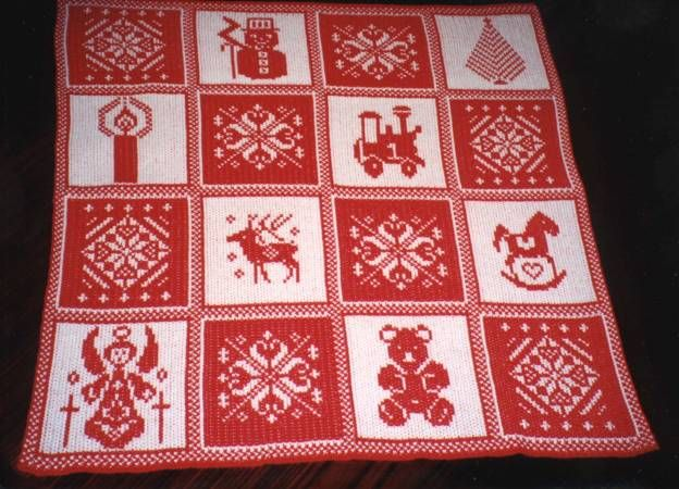 Christmas Afghan Pattern - use squares for pillows or stockings?