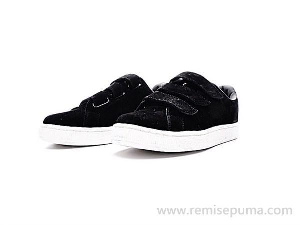 Chaussures Puma Homme Puma Basket Strap Soft Premium Star noir blanc  couleur est beaucoup plus de