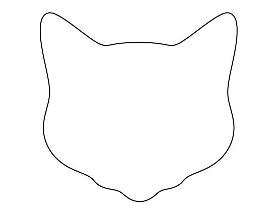 Cat face pattern. Use the printable outline for crafts, creating stencils, scrapbooking, and more. Free PDF template to download and print at http://patternuniverse.com/download/cat-face-pattern/