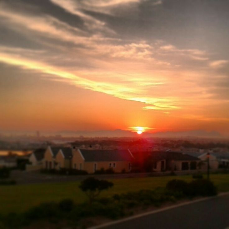 Sunset . Somerset West, South Africa :)