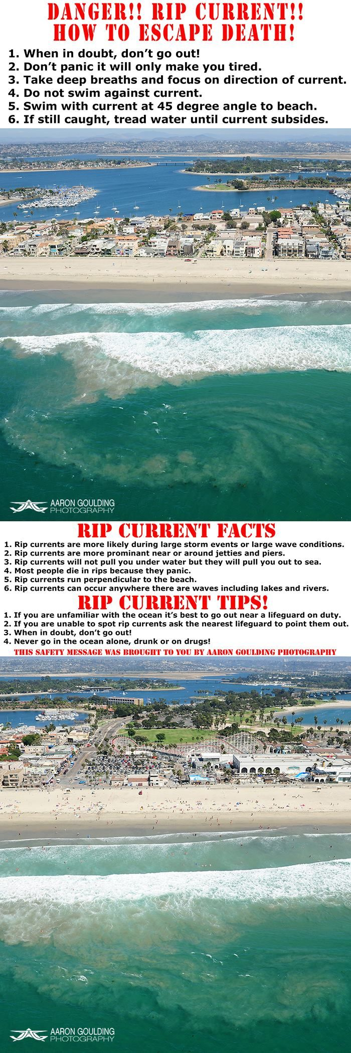 A  ****IMPORTANT SAFETY MESSAGE**** **PIN to SAVE A LIFE!!**  Lives are lost every year due to rip currents. Most people are first timers getting their feet wet and falling in love with the ocean just like we did. If only they knew some facts and tips that could have helped save their lives...  Save a life and post this to your wall!!  SHARESHARESHARESHARESHARESHARESHARESHARE  ***BECAUSE SHARING IS CARING!!*** #AaronGoulding #Photography #ocean #waves #nikon #beach