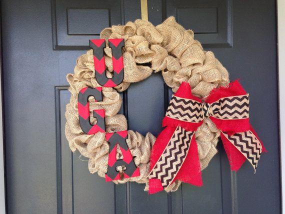 UGA wreath. by BagleyBargins on Etsy, $55.00