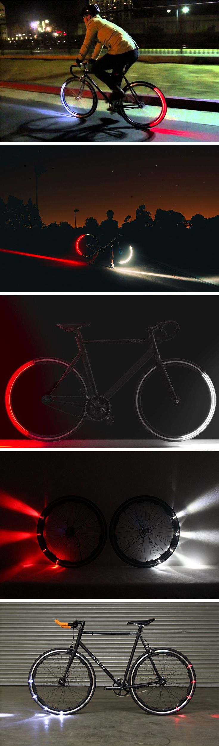 The entire concept of the Revolights sounds fascinating. A headlamp, and a tail-lamp, within the wheel of your bicycle itself! How it works is even more fascinating. Rather than illuminating your entire wheel as it goes round, the LEDs on the wheel know exactly which position to light up in, giving you the arc shaped light that you see when you're riding your bike. BUY NOW!