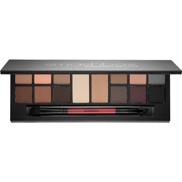 Smashbox Photo Matte Eyes Palette found on Polyvore featuring beauty products, makeup, eye makeup, smashbox, eyeshadow brush, eyebrow makeup, smashbox makeup and brow makeup