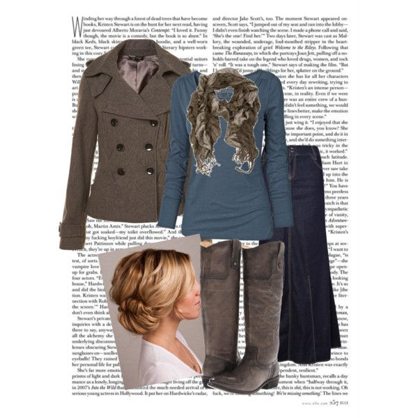 A fashion look from December 2012 featuring blue shirt, wool coat and blue skirt. Browse and shop related looks.