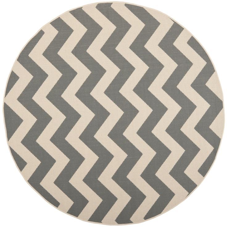 $109 Safavieh Courtyard Grey/ Beige Indoor Outdoor Rug | Overstock.com