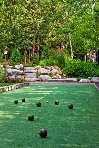 Bocce ball court in the backyard - So much fun! | Outdoor Areas