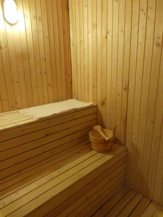 Ready for a relaxing  sauna session in my bathroom