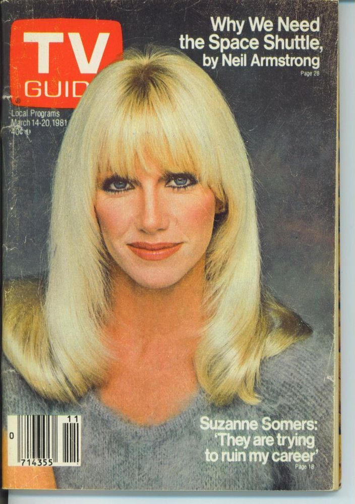 """TV GUIDE 3-14-1981 SUZANNE SOMERS~JOSH TAYLOR """"DOOL""""~NEIL ARMSTRONG~CHICAGO EDTN"""