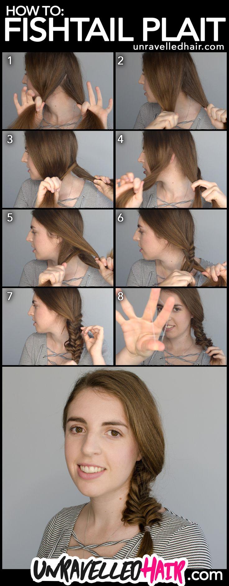 How to Fishtail Plait Steps