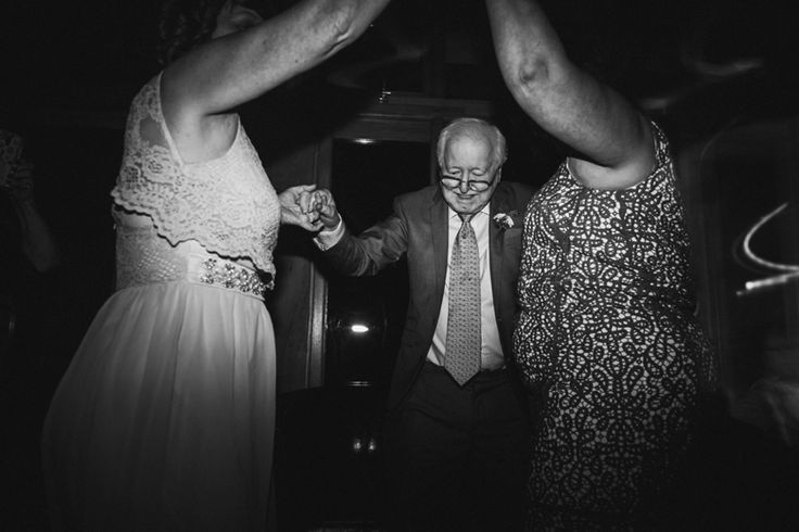 Getting the grandparents dancing - check! Photo by Benjamin Stuart Photography #weddingphotography #weddingfun #dancing #grandaddancing #partytime #blackandwhite