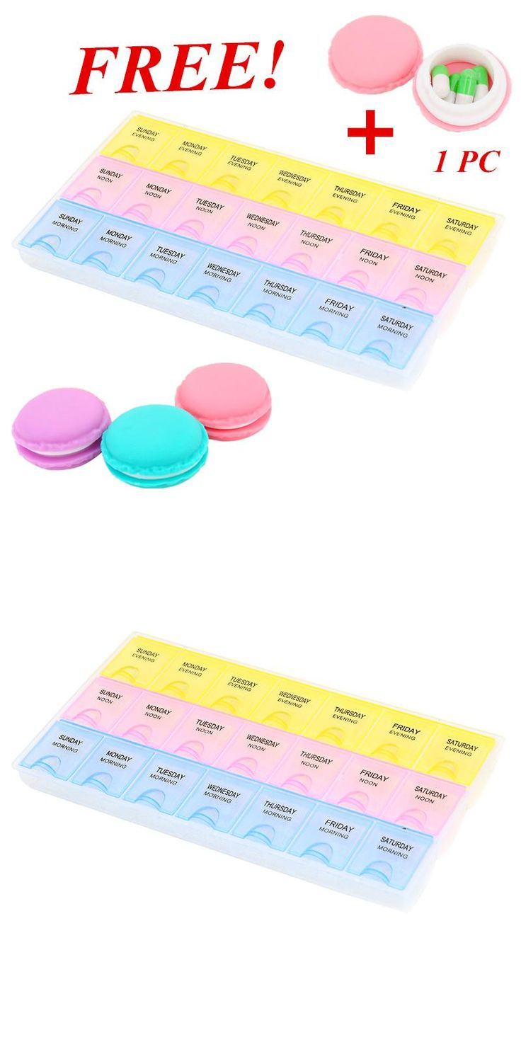 [Visit to Buy] 7 Day Push Button Weekly Pill Organizer Case Box Holder Dispenser for Supplements and Pills by SURVIVE Vitamins Free shipping #Advertisement