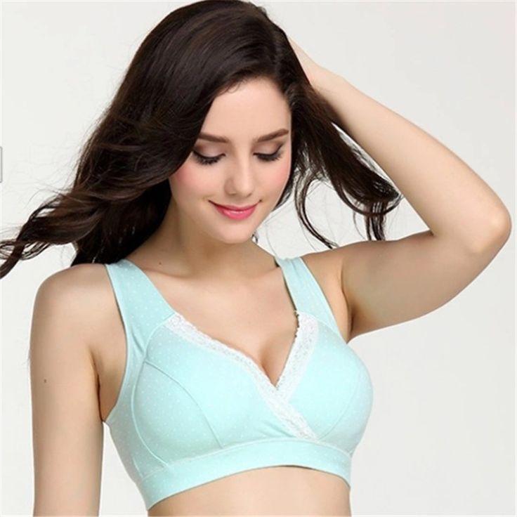 New34-40 Breastfeeding cotton Maternity Nursing Bra sleep bras for nursing pregnant women soutien allaitement underwear clothing