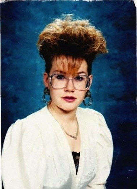 This is an elegant tribute to mushroom clouds: | 25 Photos Of '80s Hairstyles So Bad They're Actually Good