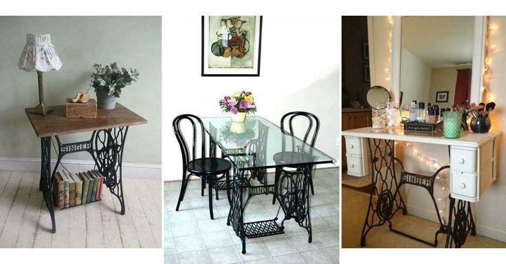 ¿Tienes una máquina de coser antigua que no utilices? Mira las maravillas que puedes hacer con ella para decorar tu hogar.