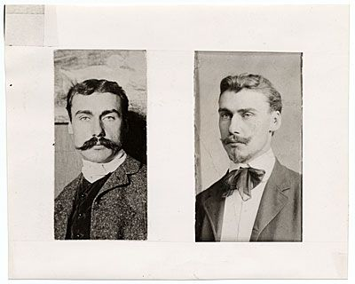 Citation: Portraits of Walt Kuhn, 1903 / unidentified photographer. Walt Kuhn, Kuhn family papers, and Armory Show records, Archives of American Art, Smithsonian Institution.