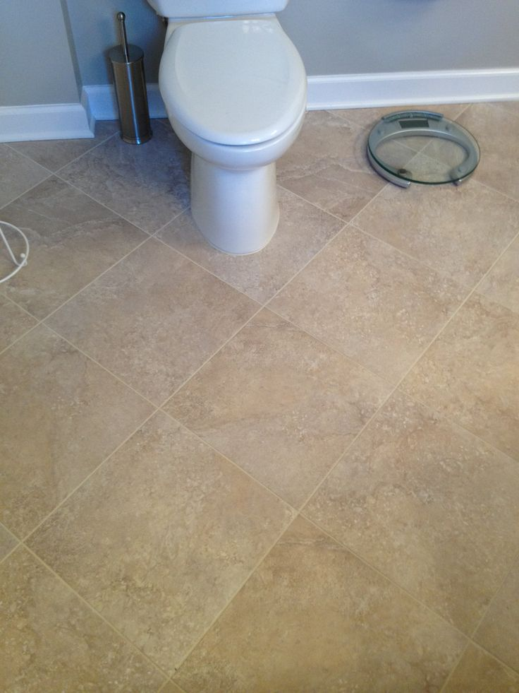 Bathroom Completed With Mannington Adura Vinyl Tile With Grout To Create A Ceramic Tile Look