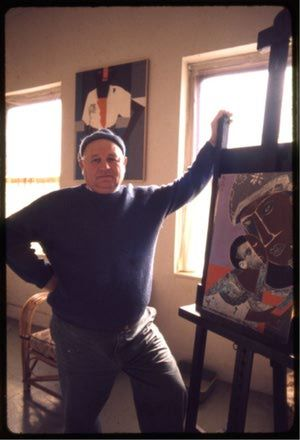 Why did Romare Bearden become a collage artist?: Romare Bearden in his studio, 1972