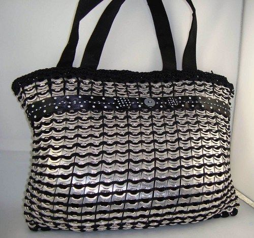 unique crocheted pop-tab tote style purse | designsbysue - Bags & Purses on ArtFire