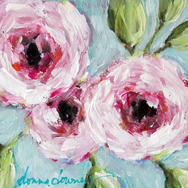 """ONLINE WORKSHOP   """"Abstract Florals"""" - REGISTRATION OPENS MARCH 2, 201   Donna Downey Studios Inc"""
