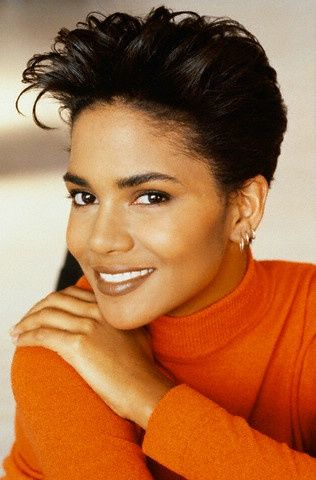 Halle Berry. ok, her hair is 80s, but this orange looks good on this Autumn Earth!