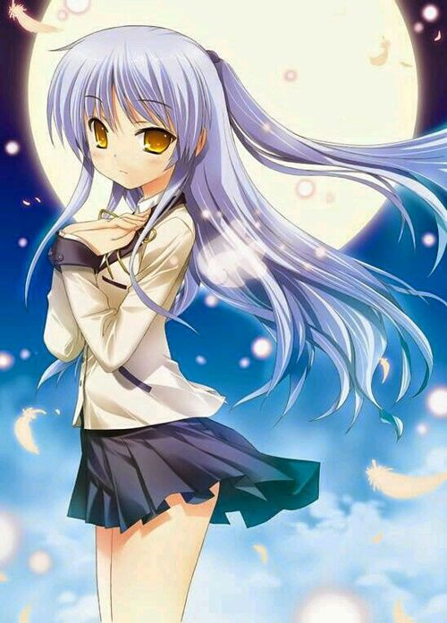 grafika anime, angel beats, and kanade