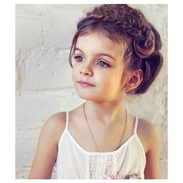 Easy and Cute Hairstyles for Curly Hair for Kids 2014 ❤ liked on Polyvore featuring babies, girls, hair, hairstyle and kids