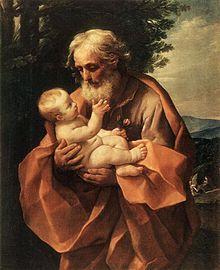 Dans les bras de Joseph, Guido Reni (1635).                                                                                                                                                                                 Plus