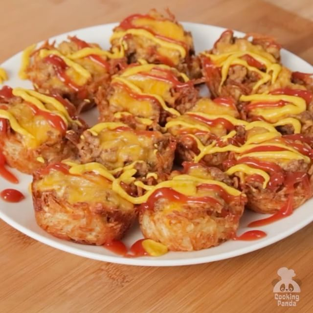 You can eat a bunch of Cheeseburger Hash Browns Cups, cause they're little! …
