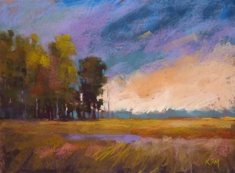 Another Option for Toning Sanded Pastel Paper, painting by artist Karen Margulis