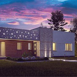 Komfortowy dom parterowy z płaskim dachem z linii modern.