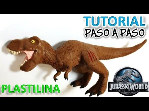 COMO HACER UN DINOSAURIO T-REX DE PLASTILINA PASO A PASO ✅ MI MUNDO DE PLASTILINA - YouTube