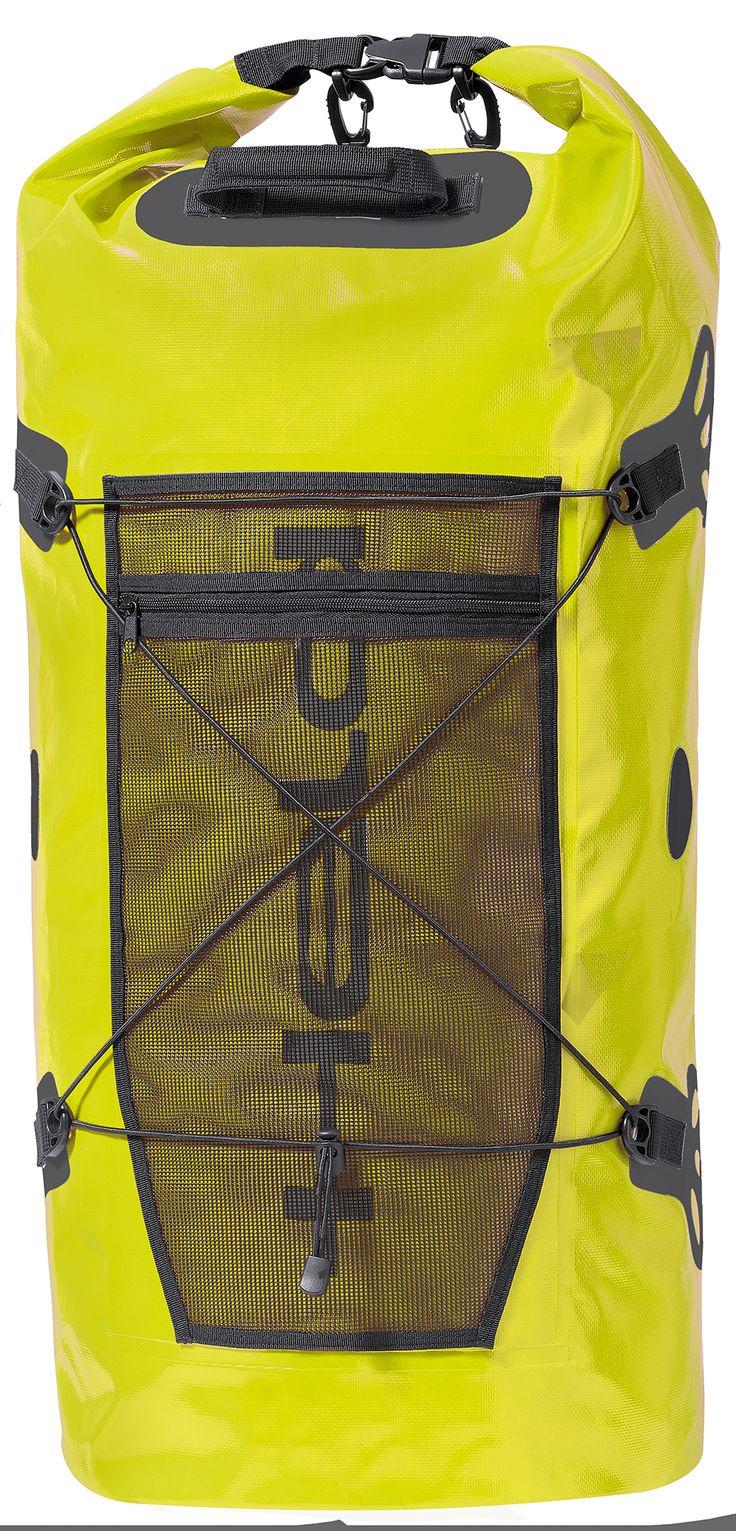 Held Waterproof Motorcycle Tail Roll Bag Yellow - http://playwellbikers.co.uk/luggage/held-waterproof-motorcycle-tail-roll-bag-hi-viz/
