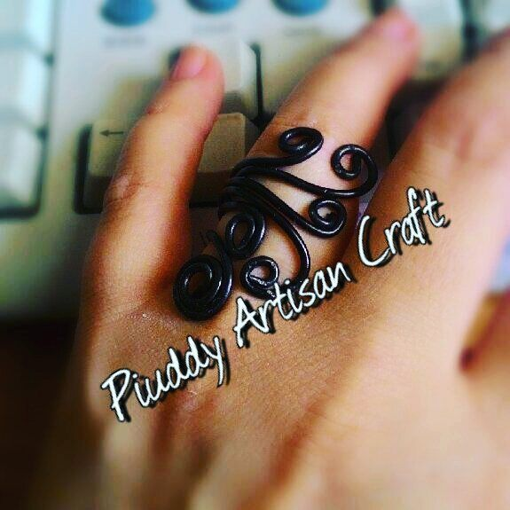 #Artisan #Craft #handmade #fattoamano #onsale #jewels #anelli #wire #black #ring #nero #noir