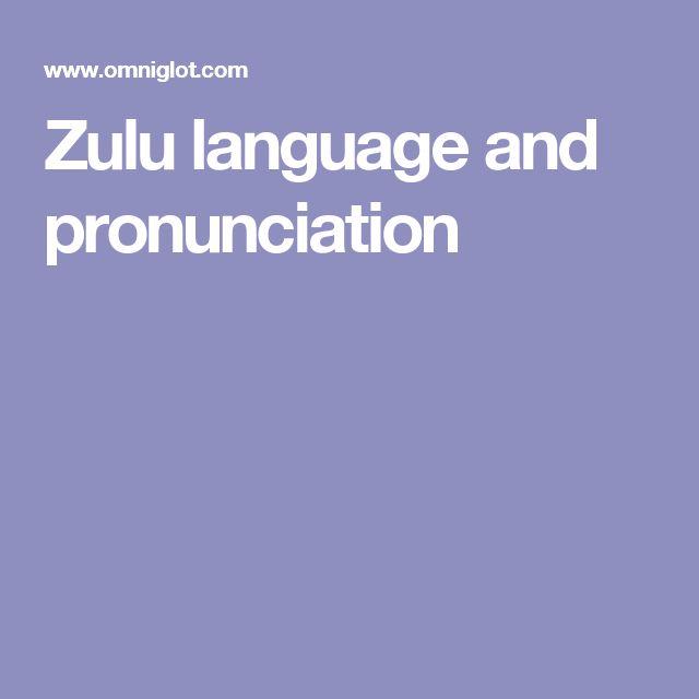 Zulu language and pronunciation