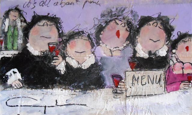 Gerdine Duijsens - It's all about pink - 90 x 145 cm