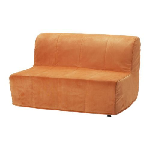 LYCKSELE LÖVÅS Sofa bed - Henån orange - IKEA    To replace the bed, but still have a place for people who are visiting to sleep.