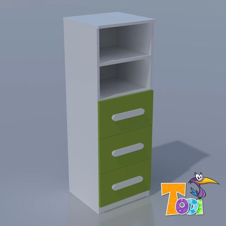 Kaméleon-fehér – keskeny 3 fiókos szekrény  #szekrény  #babaszekrény