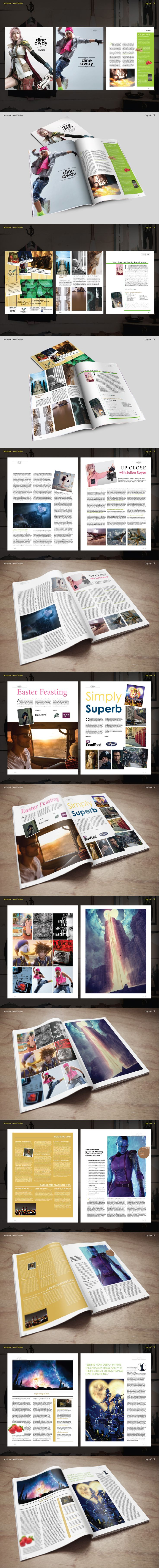 Magazine Layout #Photoshop #enjoy #fun #design #book #OMTA #ohmyacademy