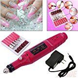 Tmalltide Pen Shape Electric Nail Drill Art Manicure Machine File Polish Buffing Pedicure Tool Set with Multi Sanding Bits