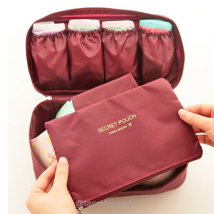Travel Portable Nylon Multifunctional Women's Underwear/Bra Lingerie Organizer Storage Bag - Travel Accessories - Tac City Goods Co - 11