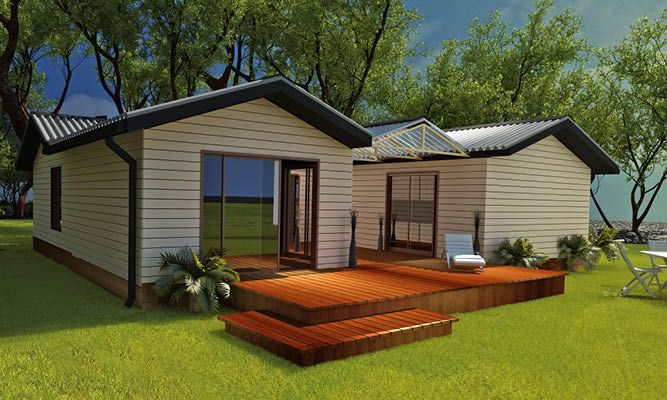 Blue Gum: A modern style gable house, with all wings of the house leading to an indoor / outdoor living space, generous bedrooms, and open plan living.
