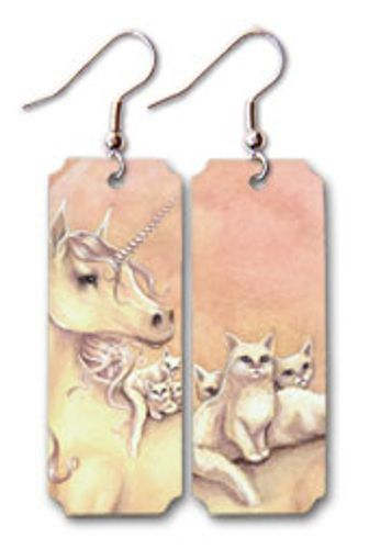 """Purrfect Friends"" Earrings http://aslanandleo.com/?product=purrfect-friends-earrings by Selina Fenech from the #FantasyArt range."