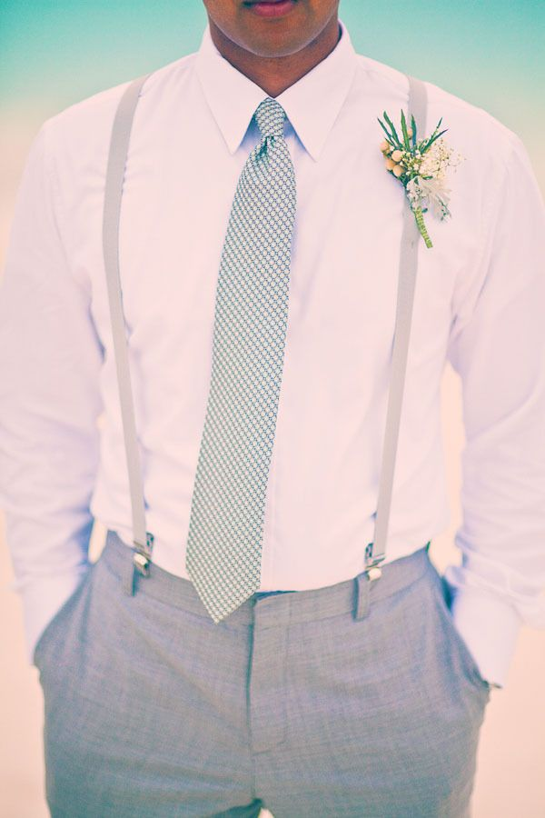 Best man outfit, blue tie, matching ring bearers and flower girl <3 follow Http://www.pinterest.com/brookejones1186/my-perfect-wedding-in-fiji/