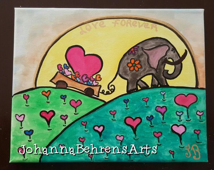 Love Forever  Por Johanna Behrens  Arte terapia intuitiva  Behrensjoha3.wixsite.com/johannabehrensarts  #acuarela #Naiveart  #artforhealth  #johannabehrensarts