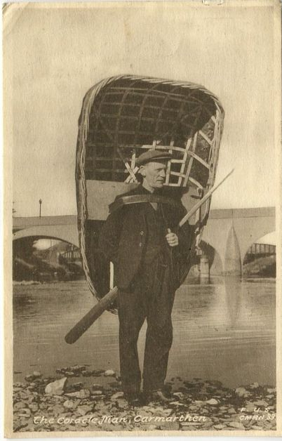 http://www.ebay.co.uk/itm/CARMARTHEN-The-Coracle-Man-1948-used-postcard-/370914383783