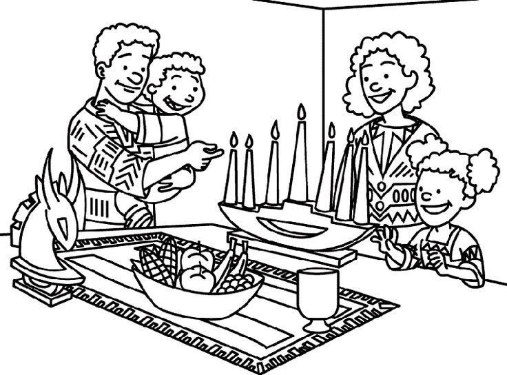 happy kwanzaa coloring pages - photo#22