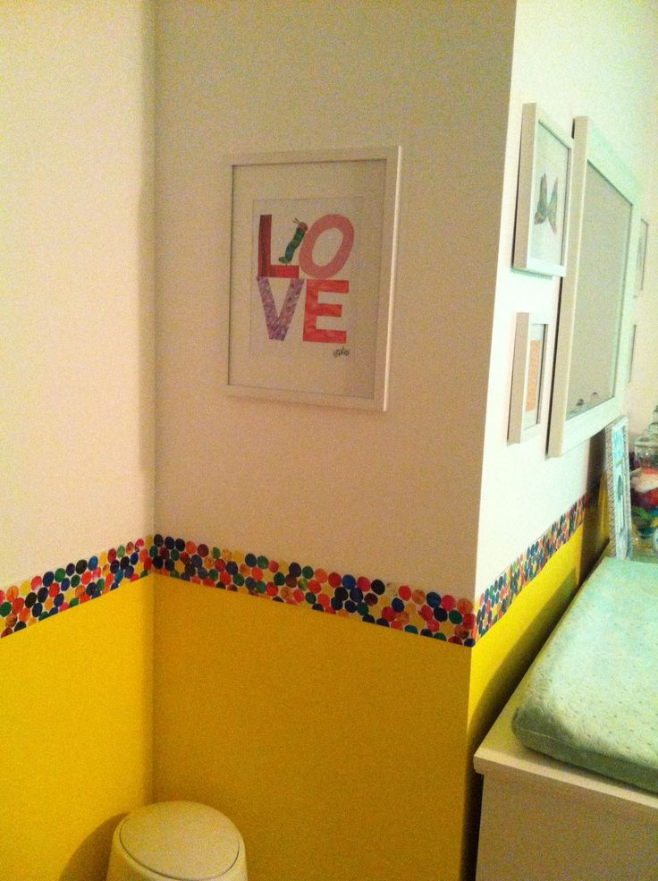Very Hungry Caterpillar nursery | I like the border with the yellow walls