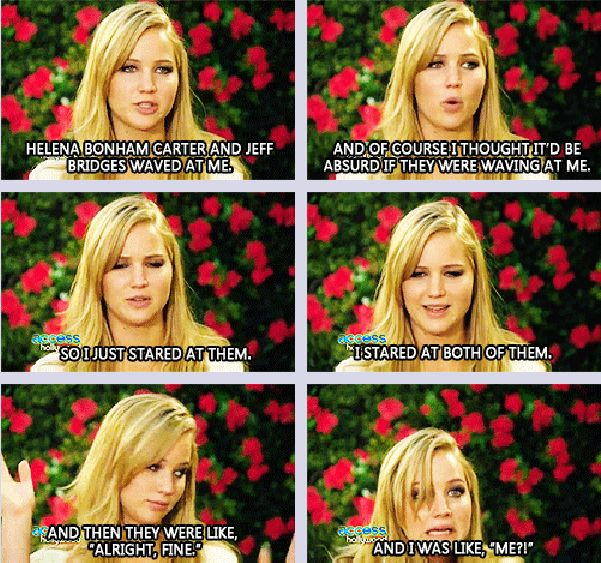 This is why I love Jennifer Lawrence!(;