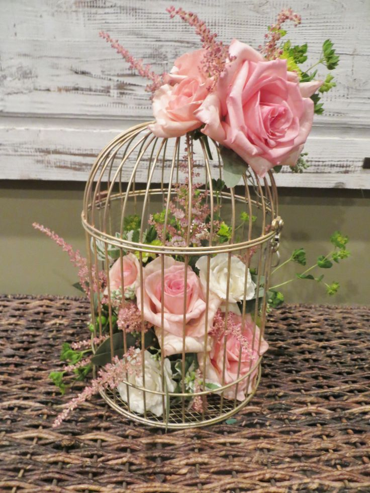 pink birdcage centerpiece bellafiorinj.com